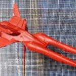 Image for the Tweet beginning: 日東科学1/144ハーピィのベース塗装終わり。赤色にしました。 格好いいぃー‼️ 100円キットなのでサクサクいくぞ (キャノピーちいさいよね) #クラッシャージョウ #旧キット