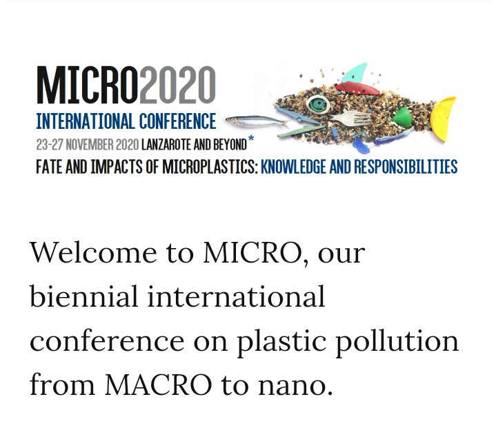 Not sure how this conference passed me by? Especially pertinent as I was asked about presence of #microplastics in Indian #river #fish esp #mahseer during lecture to @keralauni for #WorldFisheriesDay last week. Heads-up from @SarahENelms today on Ganges...