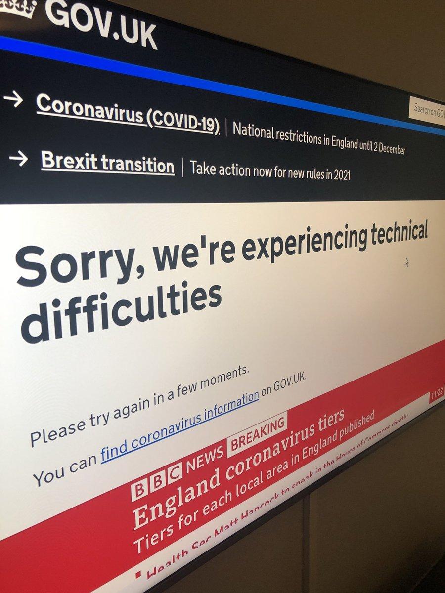 Breaking news #coronavirus #tiers