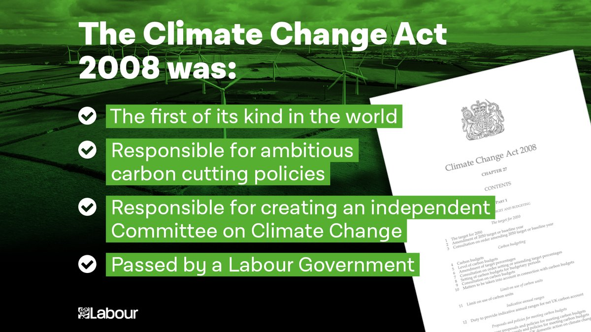 On this day 12 years ago, Labour took action to tackle the climate crisis. We need this Government to show some leadership now, before it is too late.