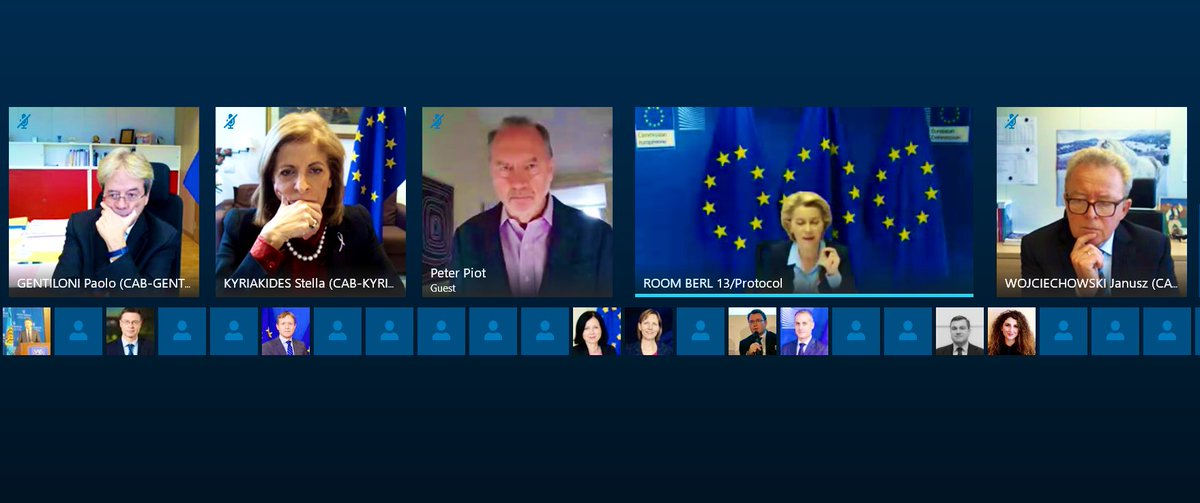 Today's videoconference on coronavirus focused on: 🔸The epidemiological situation in Europe 🔸Vaccines: state of play of national vaccination strategies, marketing authorisation procedures, communication towards citizens