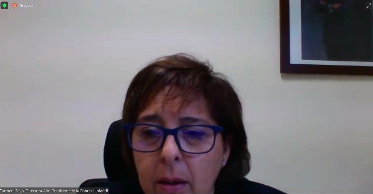 """La directora del @comisionadopi, @CarmenGayo, se suma a nuestro debate recordando que la lucha contra la #pobrezainfantil en España debe involucrarnos a todos. """"Es una cuestión de justicia y de derechos, pero también de eficiencia y futuro del país"""", señala"""