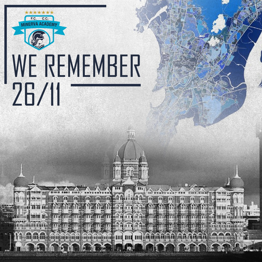 Minerva Academy is paying homage to the innocent victims of 26/11 #MumbaiTerrorAttack & saluting to the bravehearts who got martyred saving many lives 💐🙏🏼  #LestWeForget #JaiHind
