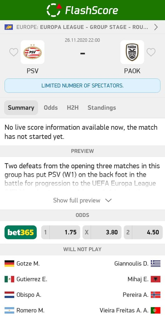 PSV - PAOK  OVER 2,5 #goals @ 1,92   #betting #bet #bettingtips #sportsbetting #bettingexpert #football #tipster #gambling #money #soccer #bettingsports #sports #tips #bettingtipster #livebet #InPlay  #UCL #UEL #EFL  More info: