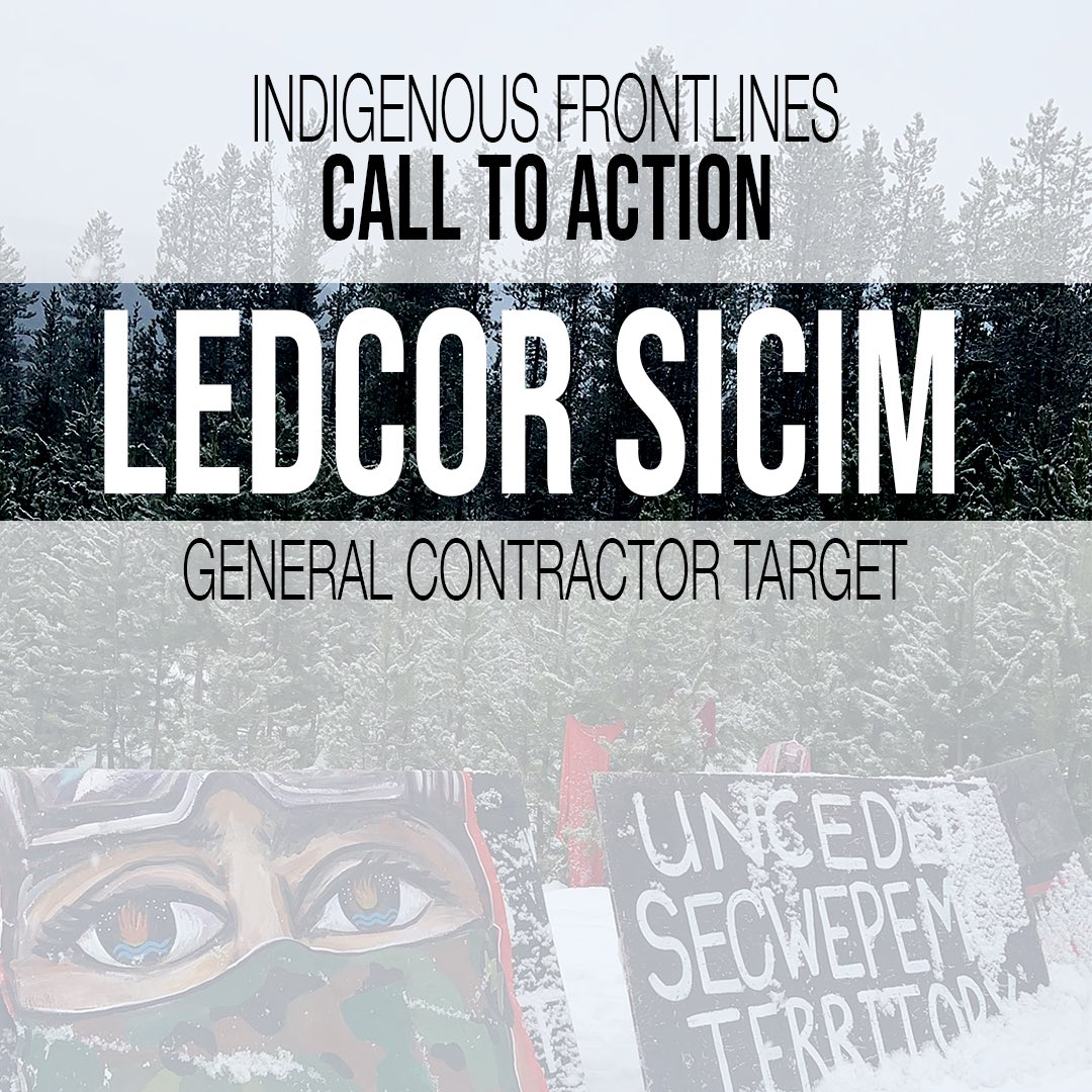 #Transmountain pipelines CONTRACTOR targets: Ledcor Sicim @LedcorGroup @LedcorCareers /// Shut em down #coast2coast #weareone #landback INDIGENOUS PEOPLES CALL FOR WEEK OF ACTION for Indigenous Sovereignty & Frontlines! #stoptmx https://t.co/avAbdZiRK4