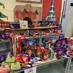 We are all ready for our Christmas Bazaar tomorrow morning! As you can see there is lots of chocolate to be won!