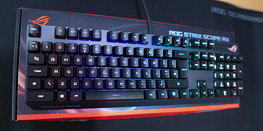 """ASUSROG_UK - """"We'd say it's the best keyboard that Asus has put out yet."""" - @T3dotcom   Well, who are we to disagree😏  Have a read  & then grab one for yourself"""