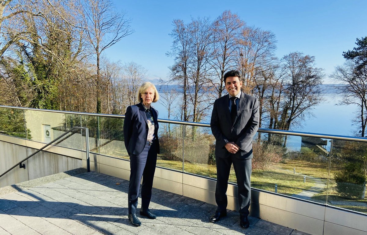 Happy to meet with Prof Dr @MuenchUrsula Direktorin of  @APBTutzing today 26/11 and discuss #IndiaGermany relations, #IndoPacific, #MumbaiTerrorAttack, cross-border terrorism and other issues of mutual interest. Look forward to continued exchanges