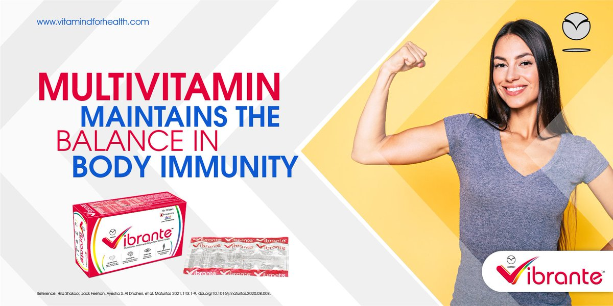Multivitamin maintains the balance in body immunity  #MightyImmunity