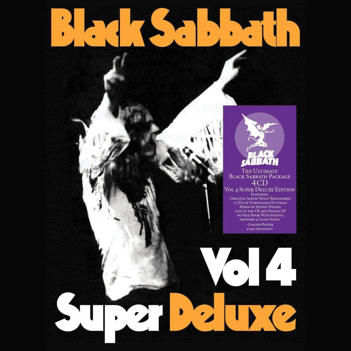 PRE-ORDER: Vol 4 (Super Deluxe) by Black Sabbath Rifftastic 5LP box set featuring a remastered version of the 72 classic, a 40-page case bound book, alternative versions, a full live performance from the Vol. 4 tour, a poster & more. normanrecords.com/records/184783…