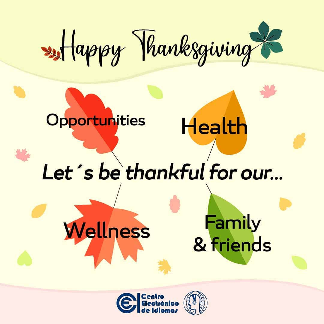 Thanksgiving Day is a holiday in the United States.  Families get together to celebrate this special day and give thanks for what they have.   #Thanksgiving #November #Thankful #English #CEI