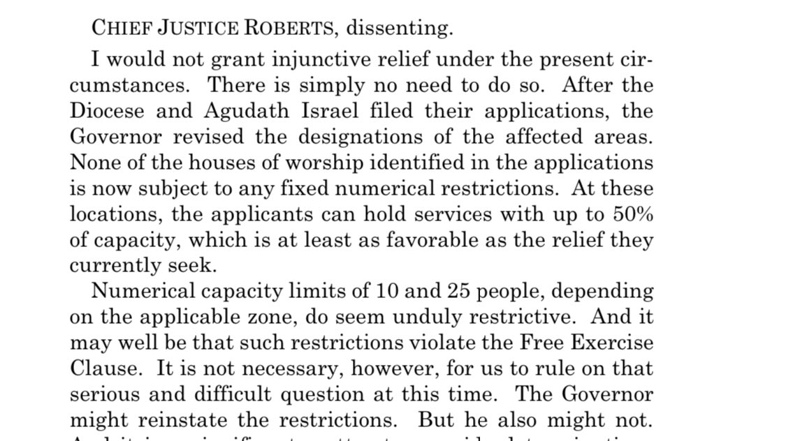 """@IngrahamAngle And, of course, Chief Justice Roberts attempts to encourage the same """"game"""" New York & other Democrat-occupied jurisdictions often play: to withdraw or change the illegal restrictions just before the case is heard by #SCOTUS, thus avoiding precedent which may prevent recurrence."""
