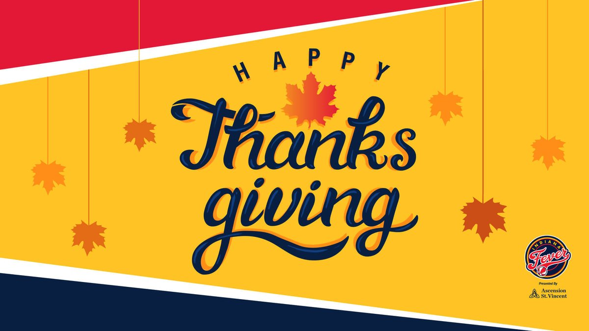 Replying to @IndianaFever: Thankful 🙏  Wishing you a safe and wonderful Thanksgiving ❤️