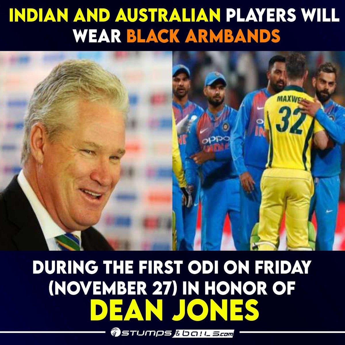 #IndianCricketTeam And #Australiancricketteam will honor late #DeanJones  Follow us @stumpnbails #IndianJersey #IndiavsAustralia #Indiancricketer #IndianCricketTeam #cricketmatch #Cricket #Cricketaustralia #Cricketupdates  #cricketnews #ViratKohli #MayankAgarwal  #DavidWarner