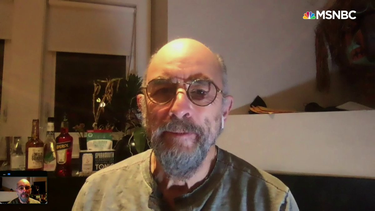 """.@Richard_Schiff says Covid-19 """"wants to beat you. It gets into your system and it feels like wherever you think you can get a breath in, it's going to go there – and that's where the cough is going to go. It wants to stop you from breathing."""" https://t.co/nqSrjkQHk1 https://t.co/hG9Up2TkLM"""