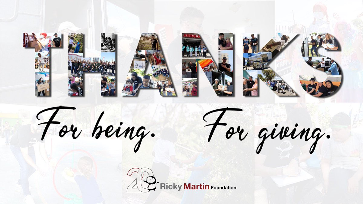 When we think of what we are grateful for, we think of YOU. We're grateful for all of you who support the work of our Foundation, especially in difficult times, like we've all experienced this year ❤️