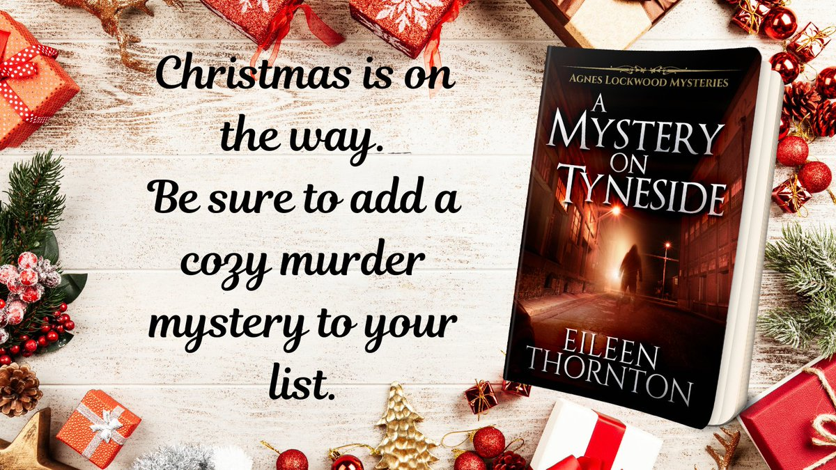 Agnes Lockwood Mysteries Book 4  Can't wait until Christmas - download a copy of this #cozymystery today!     #thursdayvibes #NextChapterPub #booklovers