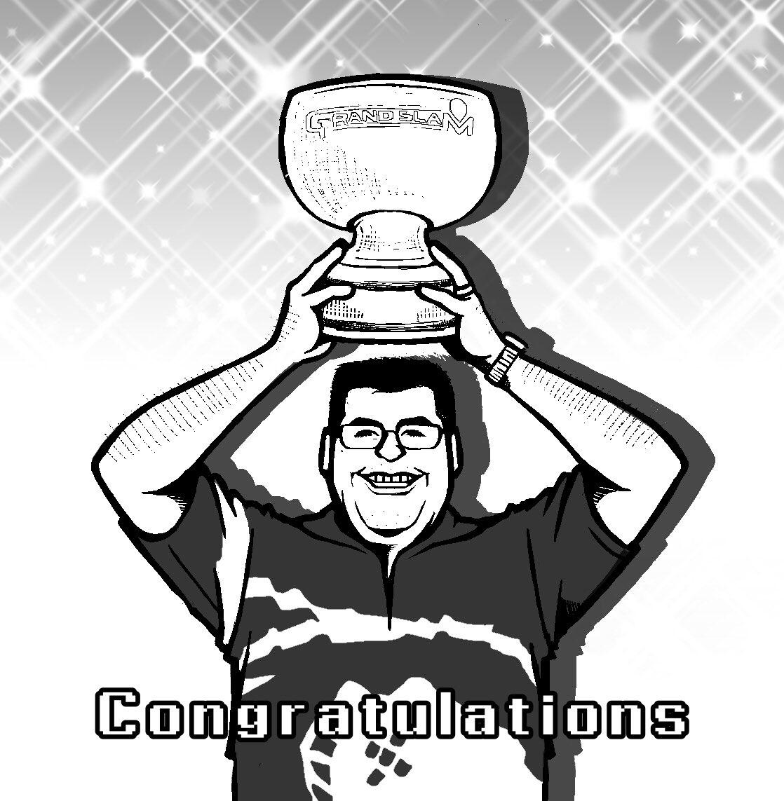 2020 BoyleSports Grand Slam of Dartsで優勝されたJose De Sousa(@JoseDeSousa180 )選手を描いてみました😊 (すみません、あんまり似てません💦)  🏆優勝おめでとうございます🏆  #JoseDeSousa #TRINIDAD #darts  #PDC #海外選手は難しい #イラスト https://t.co/OMgnvWb55v
