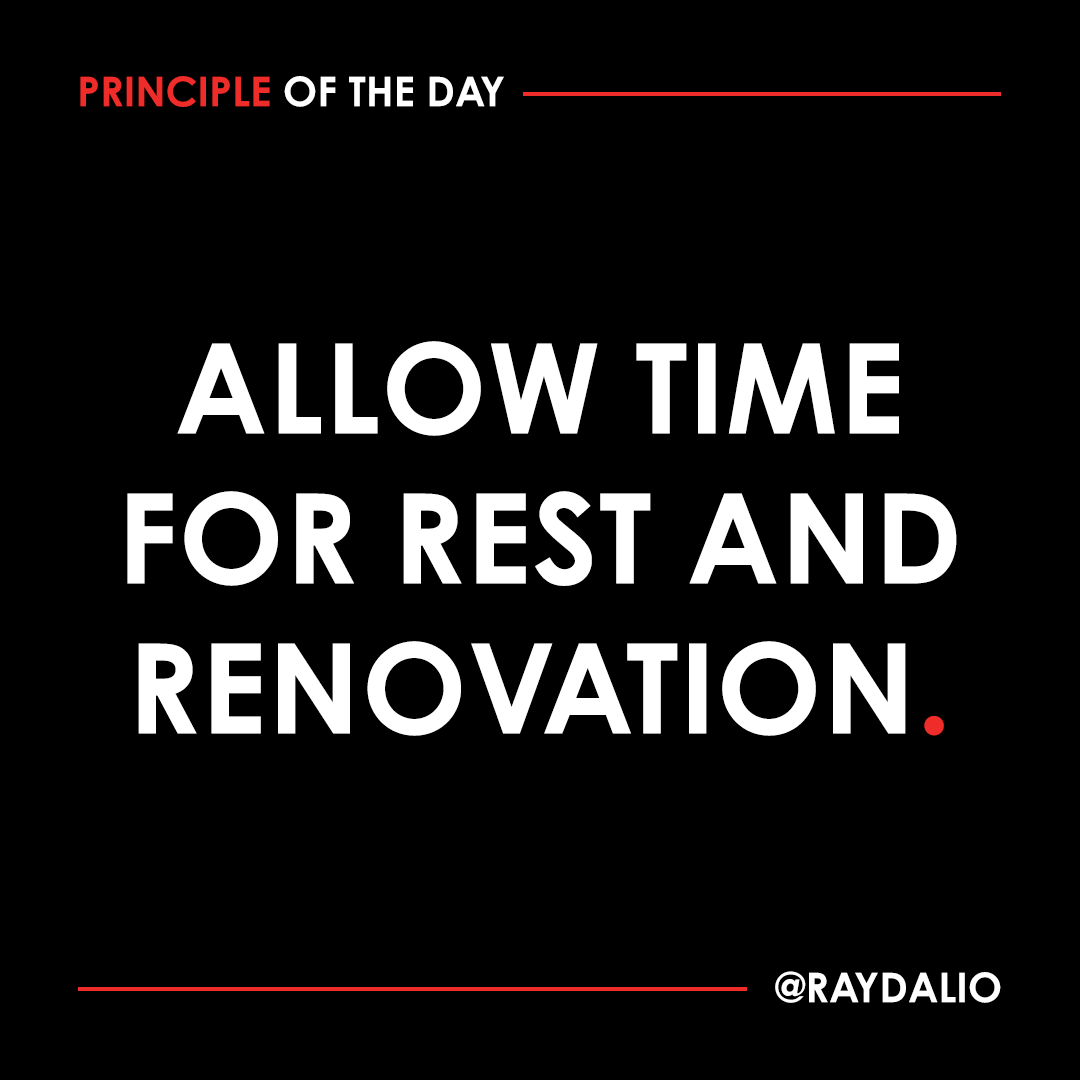 If you just keep doing, you will burn out and grind to a halt. Build downtime into your schedule just as you would make time for all the other stuff that needs to get done. #principleoftheday https://t.co/gDUAM8kwRZ