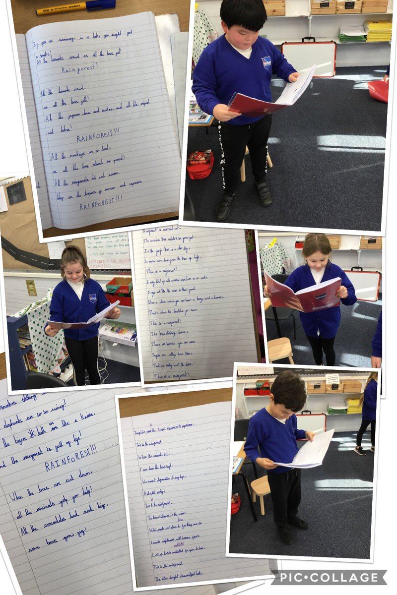 5KR have really enjoyed creating their own rainforest raps and reading them out loud. They have used amazing descriptive language and features. #rhyme #raps #rainforest https://t.co/f0UCB51Nkv