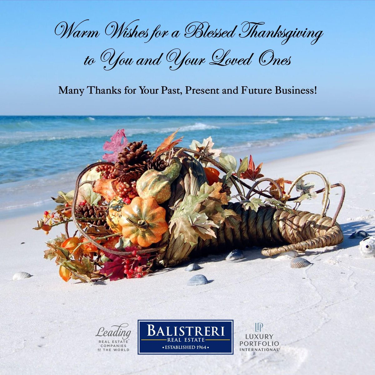 Happy Thanksgiving from Balistreri Real Estate! #happythanksgiving #gratefulheart #thankful #balistreri