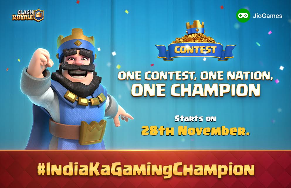 Clash Royale partners with JIO for a 27-day gaming tournament starting November 28