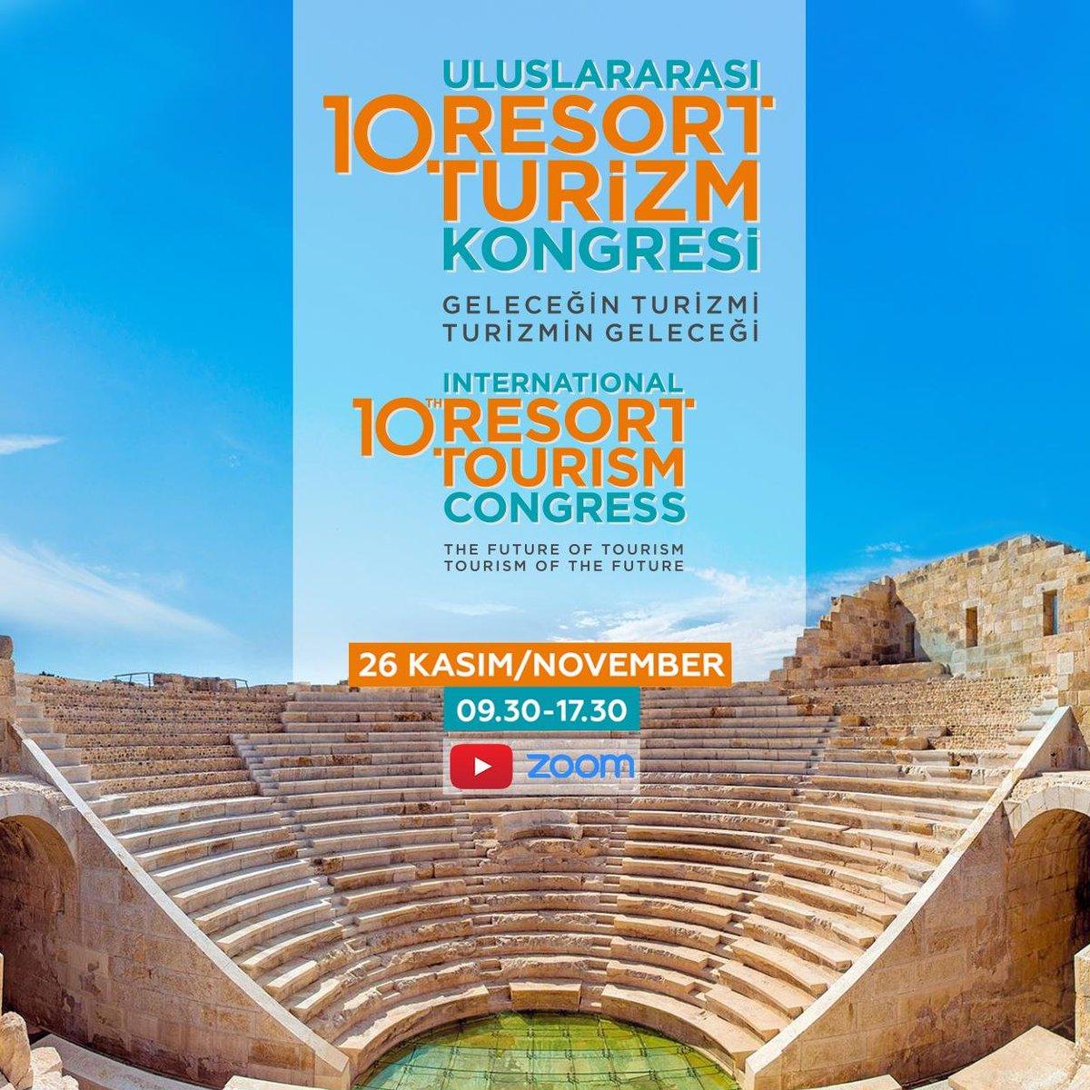 """Bakanımız @MehmetNuriErsoy'un video konferans yöntemiyle katıldığı """"10. Uluslararası Resort Turizm Kongresi"""" Antalya'da başladı.  Ayrıntısı👉"""