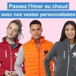 Image for the Tweet beginning: ❄️ VESTES PERSONNALISÉES ❄️  Passez l'hiver