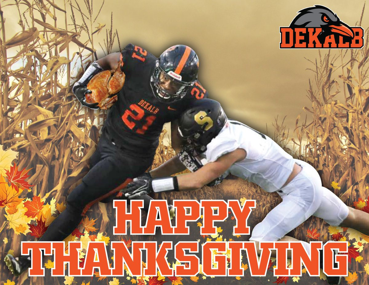 Happy Thanksgiving! We can't wait to see this rivalry resume! #DestinationDeKalb