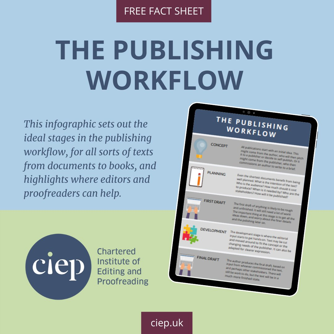 Free fact sheet: The publishing workflow bit.ly/358sC1y