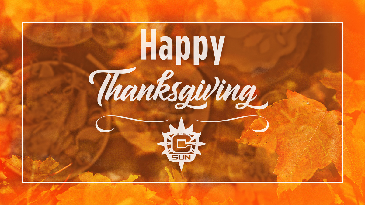 Happy Thanksgiving Sun Fam! We are so grateful for you and can't wait to be back together again.   Make sure to save us a slice of pie 😉🧡