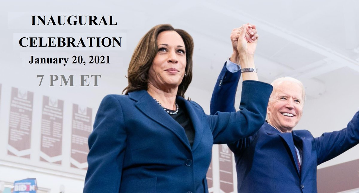 @JoeBiden I am hosting an Inaugural Celebration via #Periscope on January 20 at 7 PM ET. If you support the new administration, then you are cordially invited.