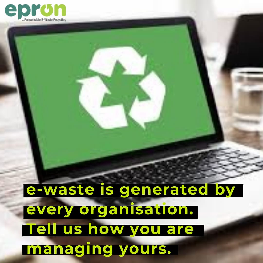 #ewaste is generated by every organizaton.  Tell us how you are managing yours.  Think #recycling.  #ePronNG #epron
