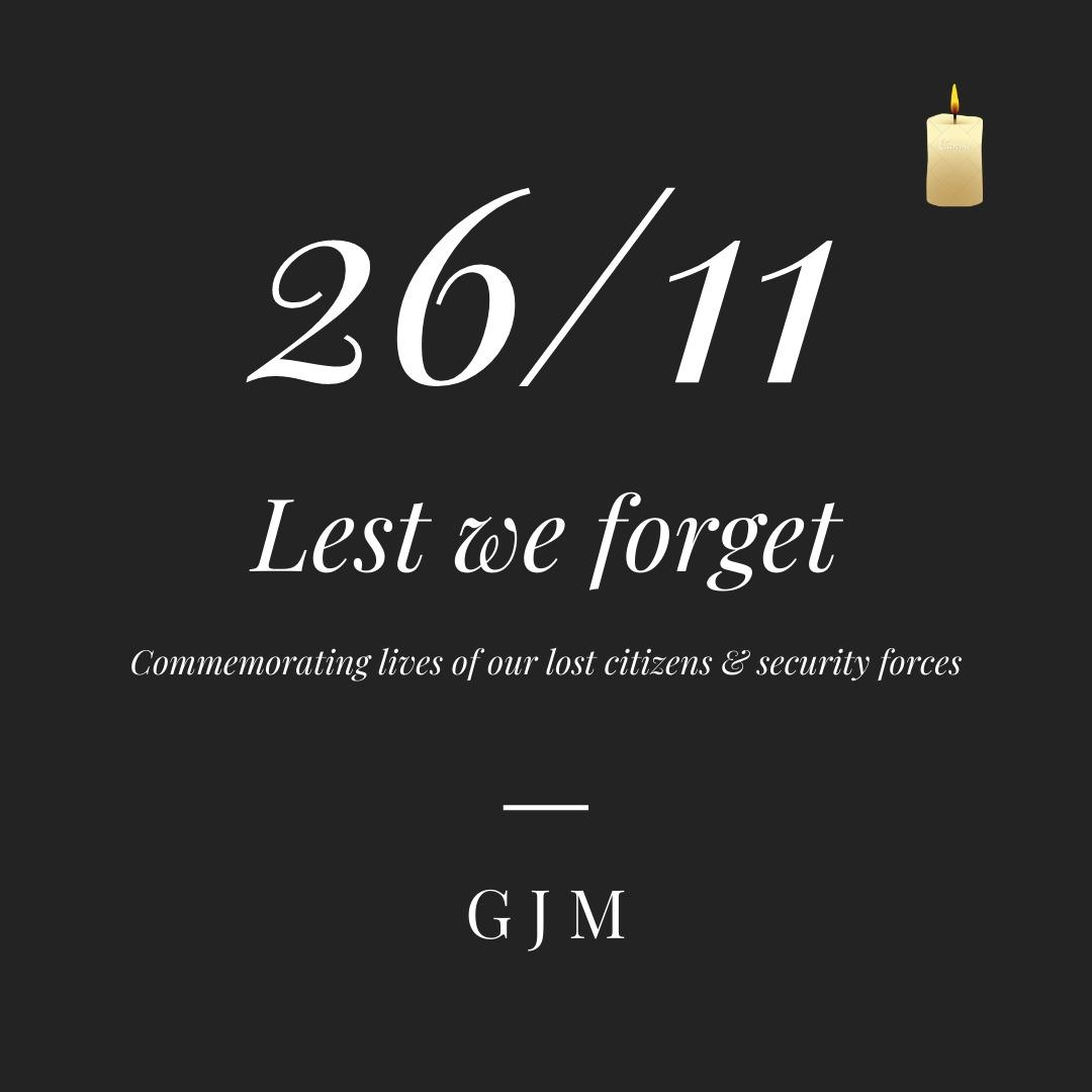 #26thNovember #LestWeForget   #JaiHind #IndiaStrong