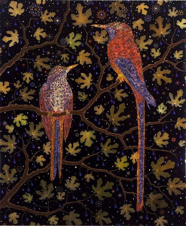 """""""Beauty is truth, truth beauty, —that is all Ye know on earth, and all ye need to know."""" --John Keats (with art by Fred Tomaselli) Happy Thanksgiving to you all!"""