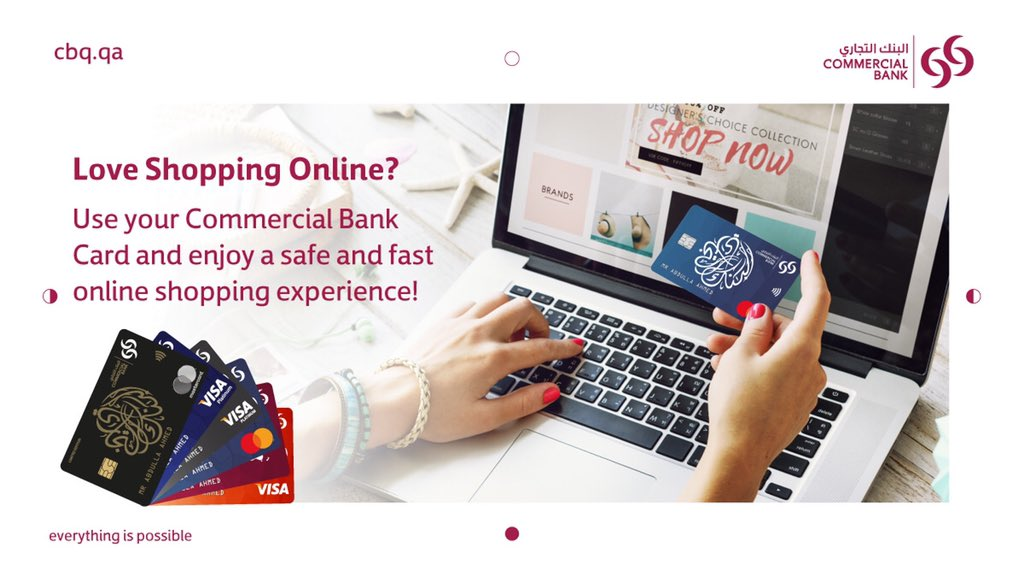 Don't miss out on the long-awaited Black Friday, Cyber Monday, Free Shipping day, and so on! And most importantly, don't forget to use your Commercial Bank Card to enjoy a safe and quick shopping experience. #GoDigital #banking #everythingispossible #qatar