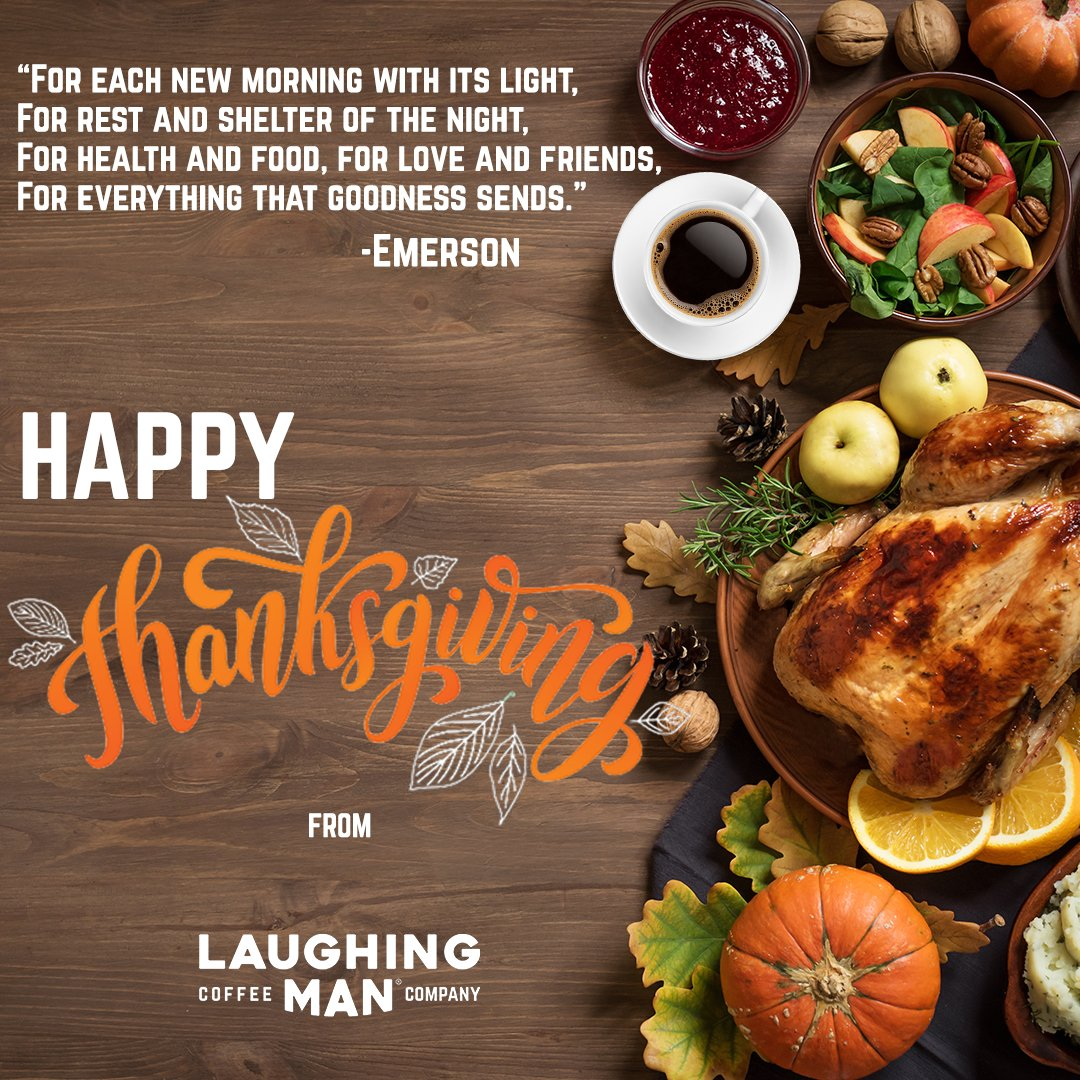 All of us here at @laughingmanco wish you a safe and happy Thanksgivingand remember: #AllBeHappy!