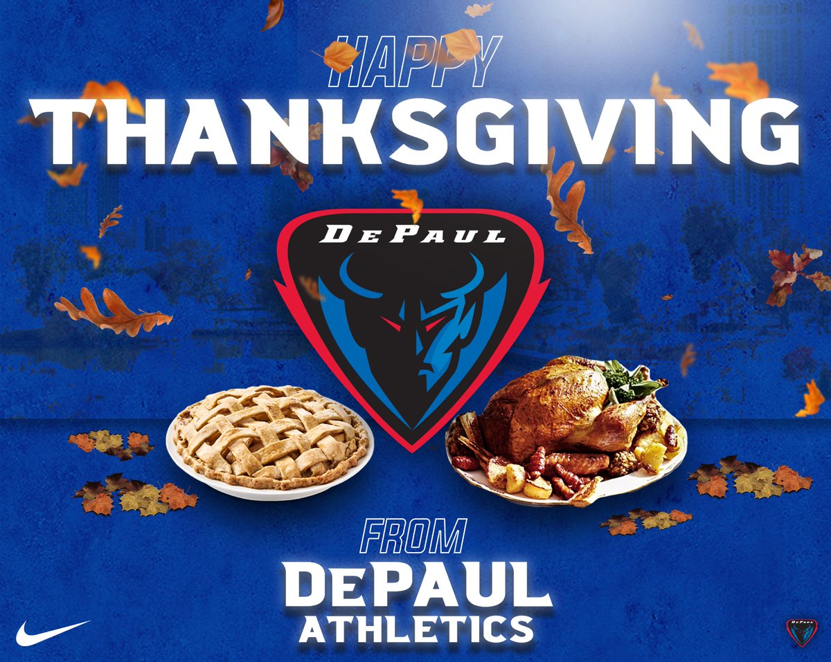 Happy Thanksgiving! 🦃🍁   We are extremely thankful to have incredible leadership and staff along with an outstanding group of student athletes. We're also lucky to have incredible support from our loyal fans and the city of Chicago.   Have a safe and healthy holiday! https://t.co/SrOZxf1nlq