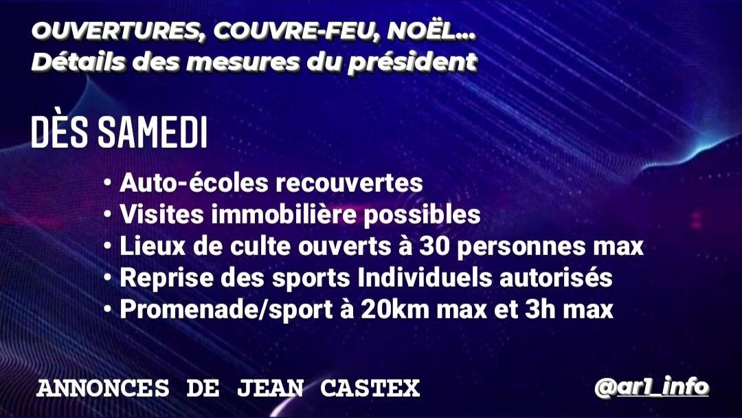 #Castex #Covid_19 #stationsdeski > 🔴Voici le résumé des annonces de la conférence de presse gouvernementale de ce matin  @JeanCASTEX a également annoncé que l'exécutif présentera, la semaine prochaine, sa stratégie