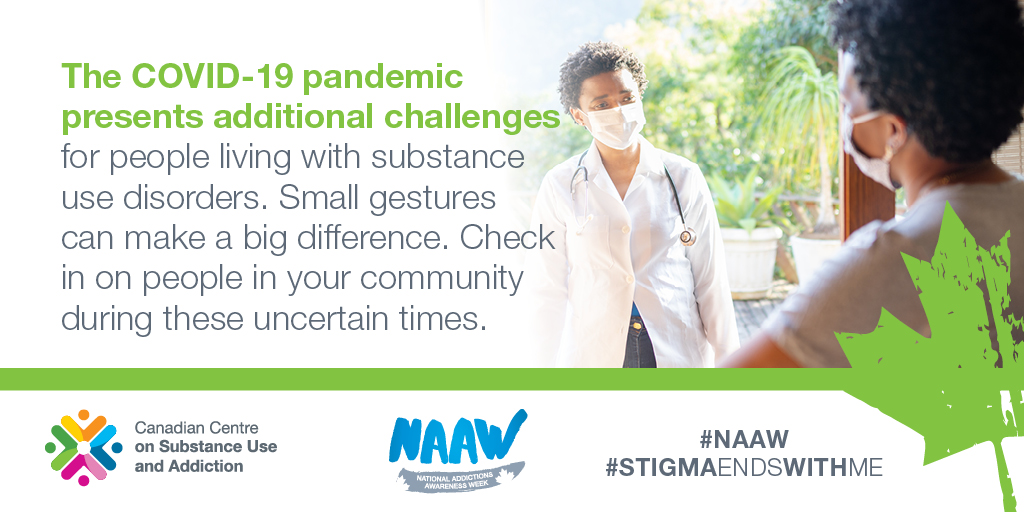 test Twitter Media - The loss of social connection and increased stress due to #COVID19 make it especially harsh for those struggling with #SubstanceUseDisorder. Learn more at https://t.co/v7DNhvaQti #NAAW #ChangeBeginsWithMe https://t.co/Rrn9mK6v3t