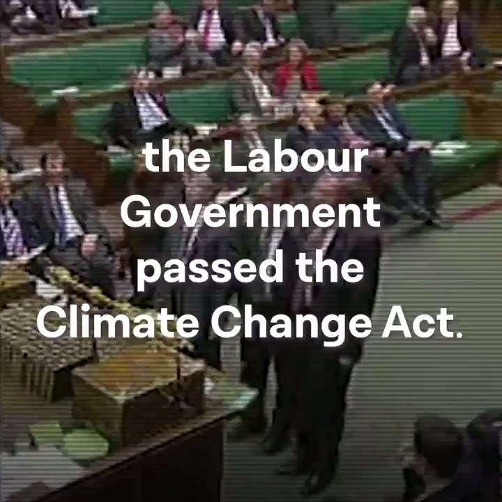 On this day in 2008, the Labour Government introduced the Climate Change Act. But the Conservatives are failing to meet the Act's targets, threatening progress on tackling the climate emergency. They need to take action now – for all our futures.