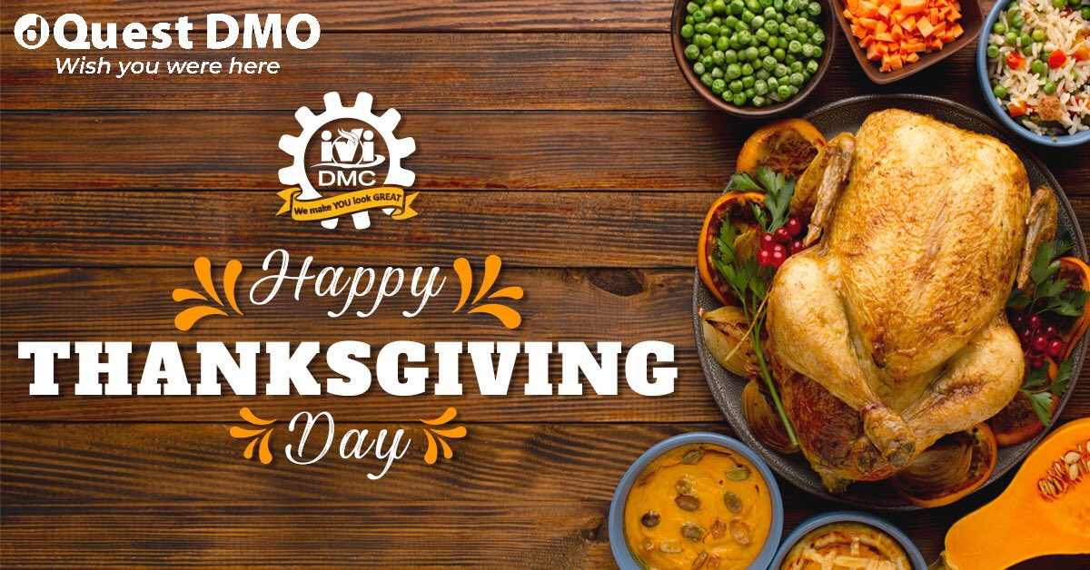 In behalf of IVI DMC & @DQuestTravel , we want to wish you a Happy Thanksgiving! This was a tough year, but remember that there's always something to be thankful for... #thanksgiving #happythanksgivng 🦃  #ividmc #iviteam #meetings #incentives #groups #travellers #MICE https://t.co/sxZOGUInVR