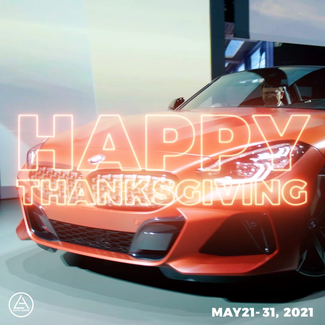 Image for the Tweet beginning: Happy Thanksgiving from the #LAAutoShow!