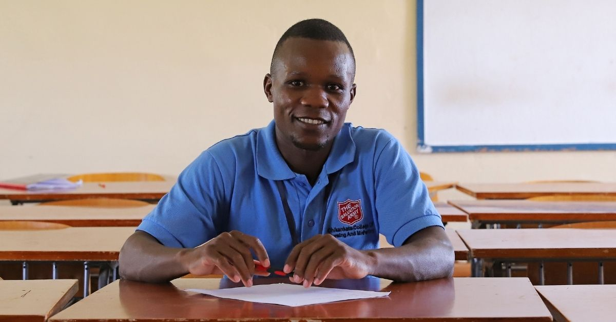 """""""Health care in Zambia needs to be more accessible. I plan on giving back to my country by serving our hospitals."""" — David, a nursing student at The Salvation Army Chikankata College of Nursing.   We're proud to be teaching a generation of change-makers worldwide."""