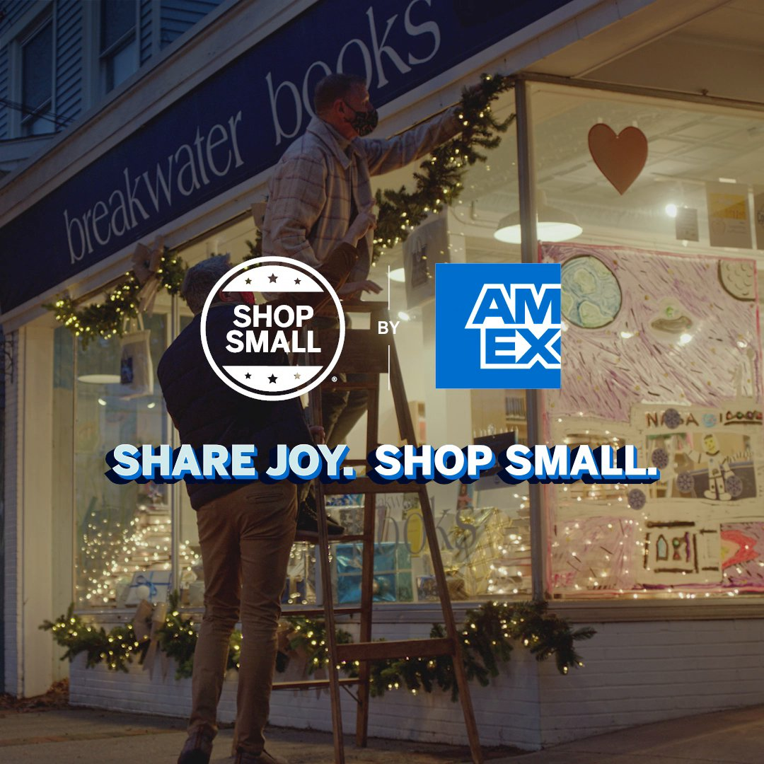 What local shop brings the holidays to life in your neighborhood? Places like @1350QueenAnneRd, Unique Cleaners & @breakwaterbks fill their communities with good cheer & holiday treats year after year. #ShopSmall to support small businesses and share joy all season long.