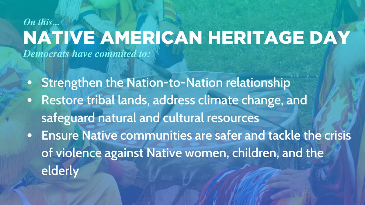 These are just some of our Democratic pledges. For the complete Biden/Harris plan for tribal nations, please visit:  #NativeAmericanHeritageDay #VoteFLDem