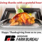 Image for the Tweet beginning: Happy Thanksgiving! Missouri Farm Bureau