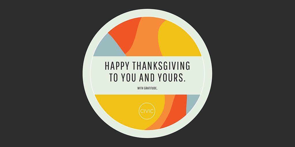 Happy #Thanksgiving from us at Civic! 🦃 ⁣ Design by Isabella Pinzon