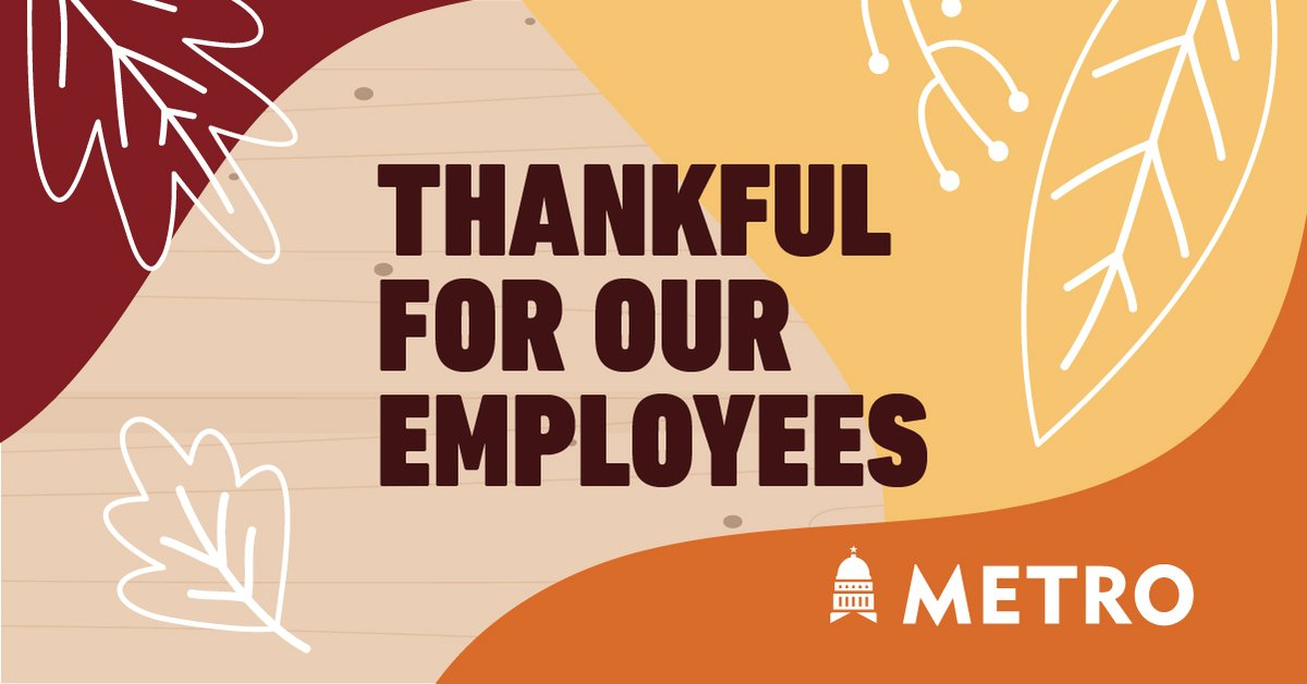 Every year during the week of  Thanksgiving, the #CapMetro senior management team serves Thanksgiving lunch to our frontline staff. #thankful