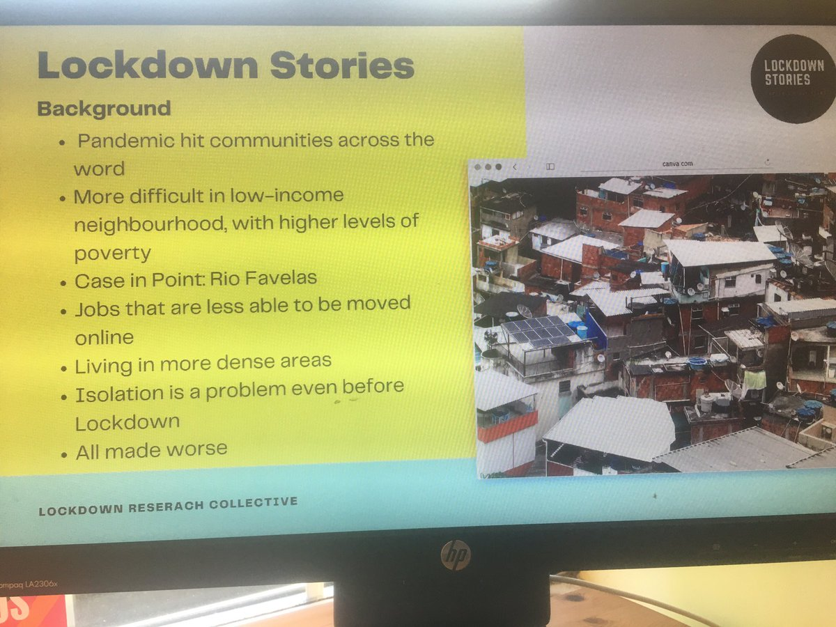 #LockdownStories #CEMPBU @IsabellaRega @CEMPBU Storytelling & Empowerment, Favela activism & community. @drfigtree @Journalism_BU